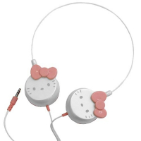 Hello Kitty Auricular DJ Blanco y rosa<B> - REGALO 1 Auricular Micro Hello Kitty </B>-51160