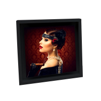 FLOAT FRAME 15x15cm, madera negro-9809469