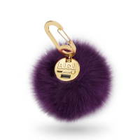 BUQU Power Bank Pompón Morado-9809498
