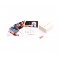 Calendar Block Blanco + Mini pinza-9810074